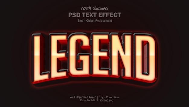 Legendarny styl kinowy psd edytowalny efekt tekstowy