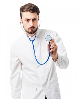 Lekarz z stetoskop