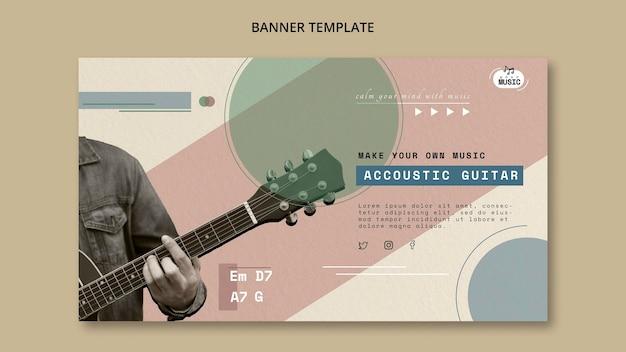 Lekcje gitary akustycznej poziomy baner