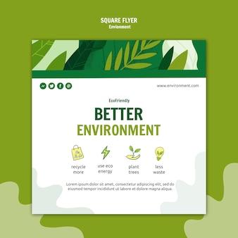 Lepsze środowisko kwadratowa ulotka