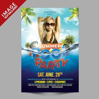 Letni basen party flyer