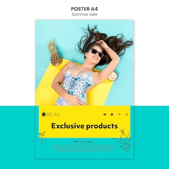 Letni plakat ekskluzywnych produktów