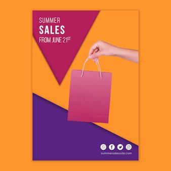 Letni szablon okładki sprzedaży