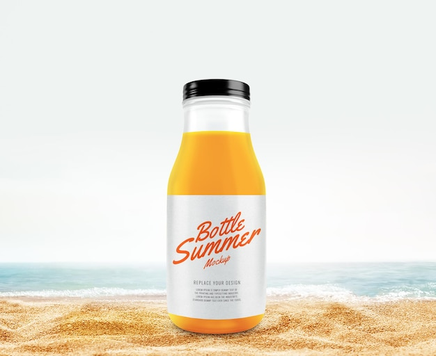 Letnia makieta soku pomarańczowego