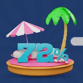Letnia wyprzedaż 72 procent zniżki oferta renderowania 3d