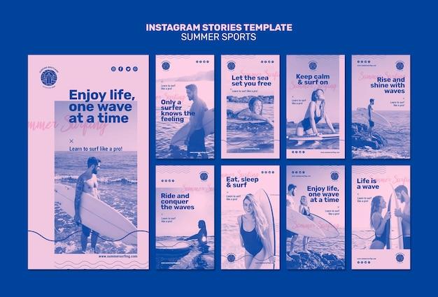 Letnie historie na instagramie