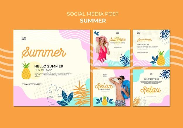 Letnie posty w mediach społecznościowych