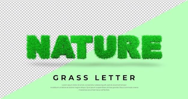 List natura z trawą w blenderze