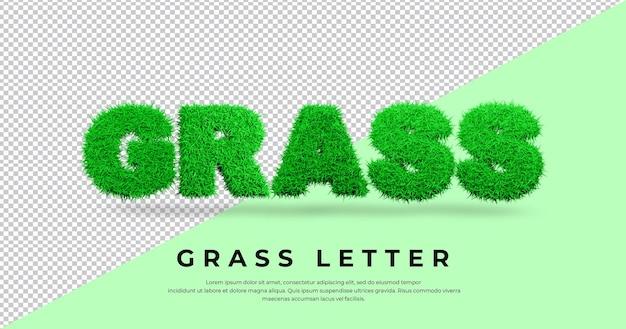List trawy z trawą 3d w blenderze