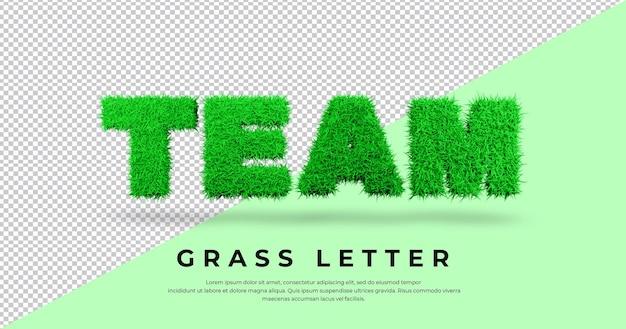 List zespołu trawy