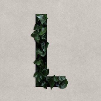 Litera l alfabet koncepcja z hedera