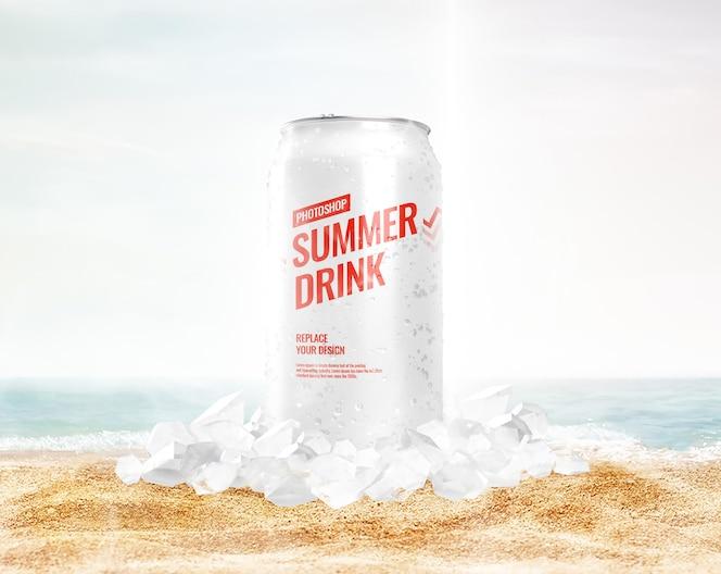 Lód może makieta lato