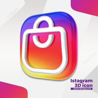 Logo 3d Instagram Dla Mediów Społecznościowych Premium Psd