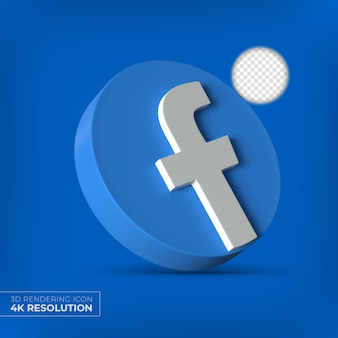 Logo aplikacji facebook 3d na białym tle