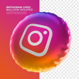 Logo isntagram balon 3d