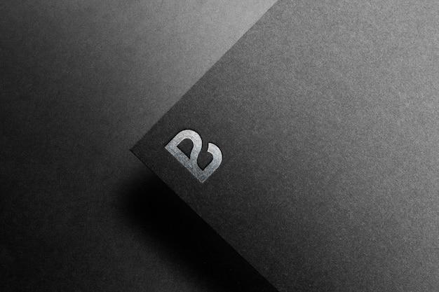 Logo makieta czarny papier