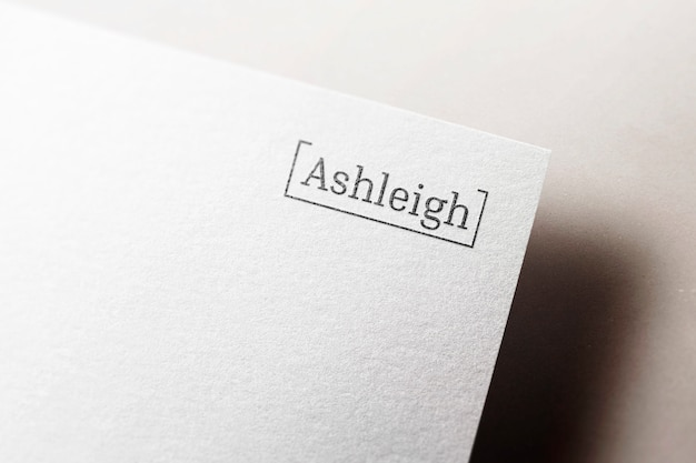 Logo makieta elegancki papier