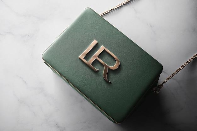 Logo makieta luksusowa torba