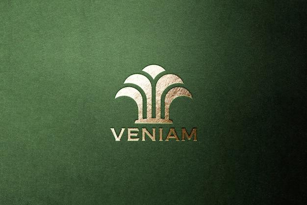 Logo makieta luksusowe złoto