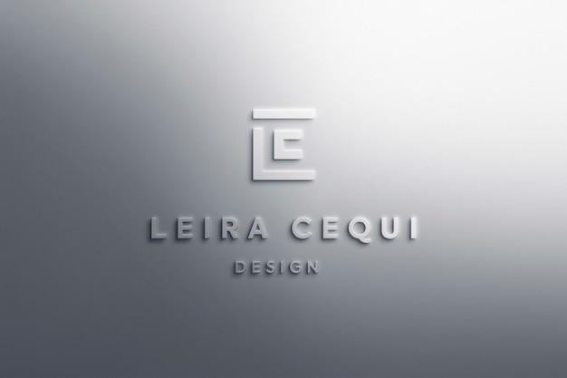 Logo makieta luksusowy biały