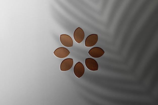 Logo makieta luther tekstury z cieniem