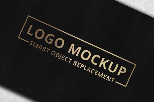 Logo makieta na karcie