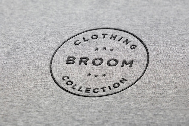 Logo makieta odzież haftowana