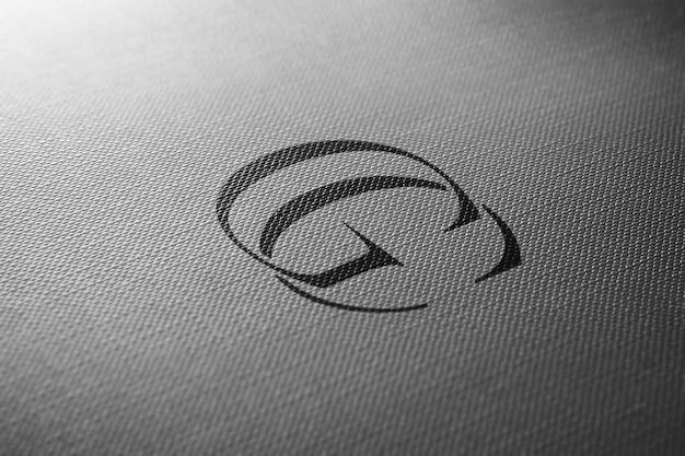 Logo makieta papieru perspektywy
