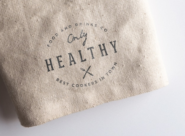 Logo makieta tkaniny