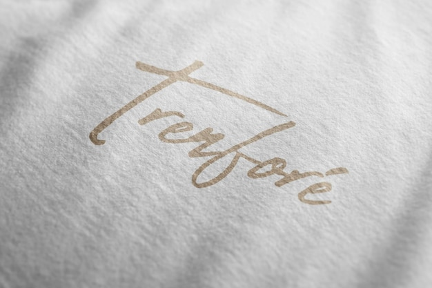 Logo makieta tshirt tekstura