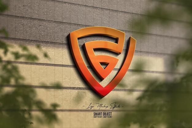 Logo-makieta-z-logo-w-ścianie 3d