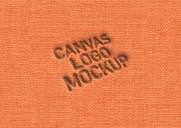 Logo-makieta z prasowanego płótna