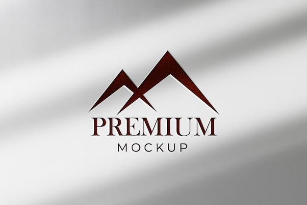 Logo makiety białej księgi w cieniu