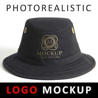 Logo makiety - sitodruk logo druku serigraf na czarny kapelusz