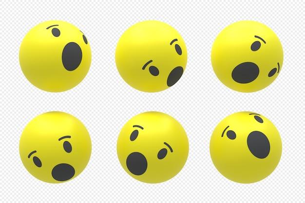 Logo mediów społecznościowych facebook ustawione w renderowaniu 3d