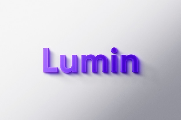 Logo mockup 3d luminous
