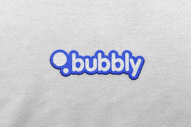 Logo mockup odzież patch przód 3d
