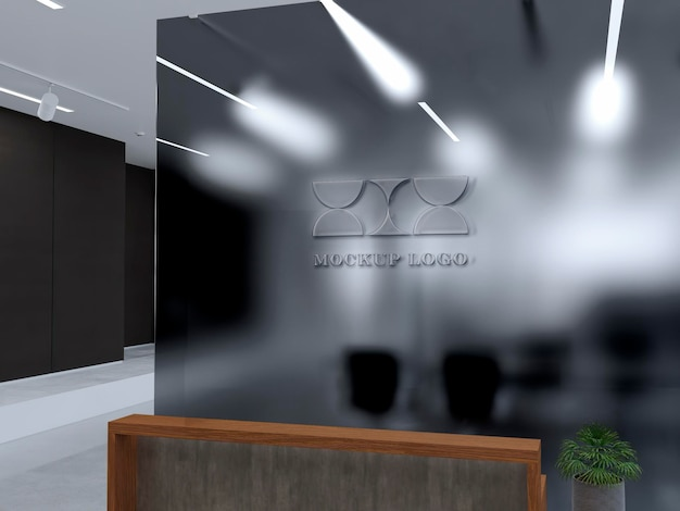 Logo na ścianę biurową mocku