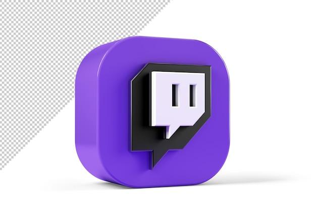 Logotyp twitch, na białym tle ze ścieżką przycinającą