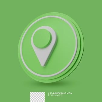 Lokalizacja 3d ikona designu