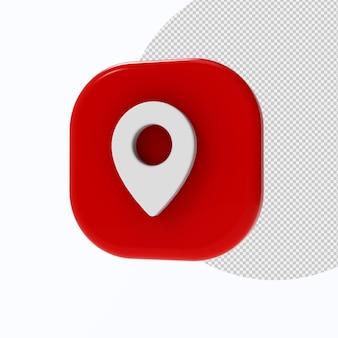 Lokalizacja 3d ikona renderowania 3d