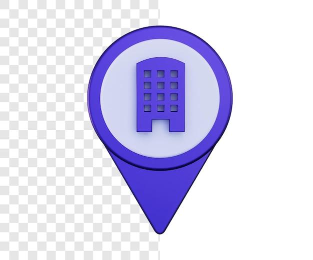 Lokalizacja hotelu lub biura 3d