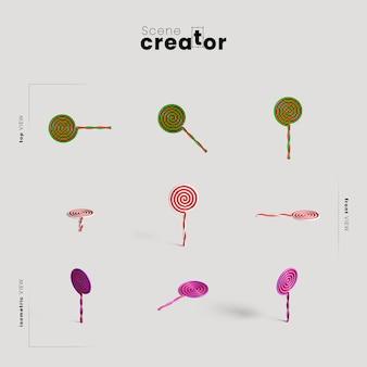 Lollipops różnorodność twórców scen halloweenowych pod kątem