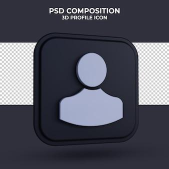 Ludzie ikona renderowania 3d na białym tle