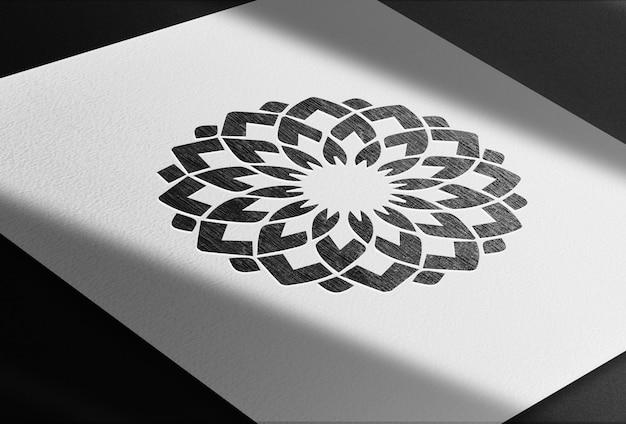 Luksus narysowany w makieta prespektywa papieru ołówkowego