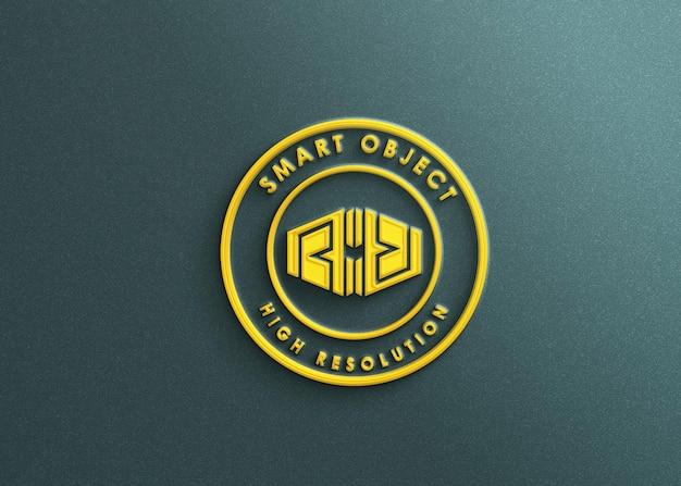 Luksusowa makieta logo 3d