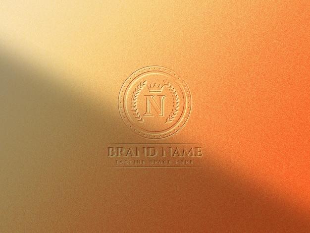 Luksusowa makieta logo na tle tekstury