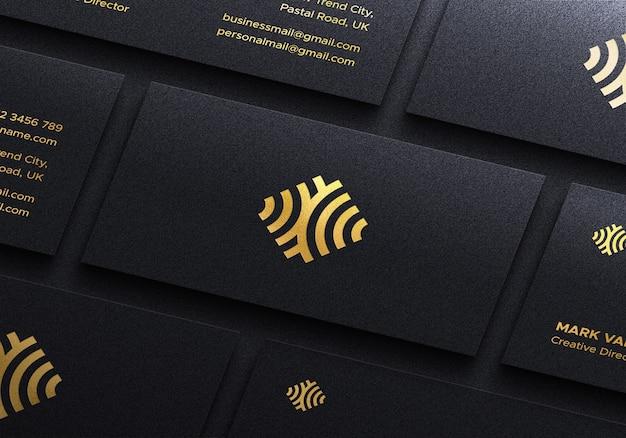 Luksusowa makieta logo na wizytówce