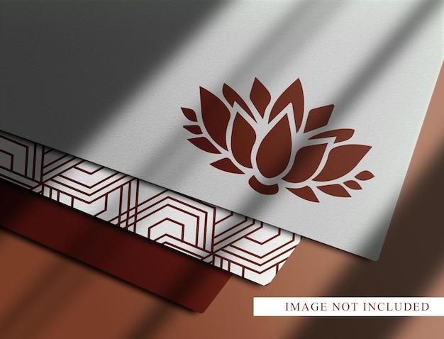Luksusowa makieta widoku perspektywicznego papieru