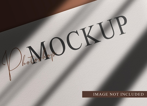 Luksusowa makieta widoku perspektywicznego pustego papieru